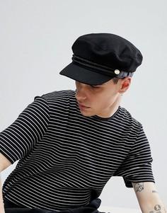 Черная кепка с веревочной отделкой ASOS Mariner - Черный