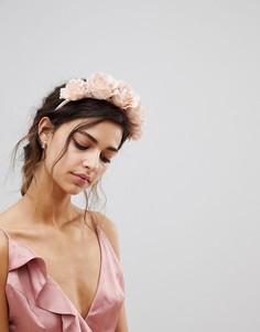 Повязка на голову с цветочным принтом ASOS - Розовый