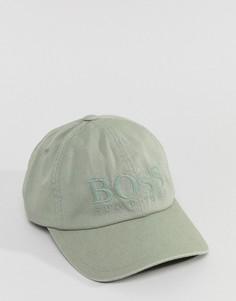 Парусиновая бейсболка цвета хаки BOSS - Зеленый
