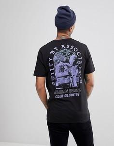Черная футболка с принтом на спине Globe 94 - Черный