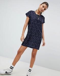 Платье с принтом звезд Noisy May - Темно-синий