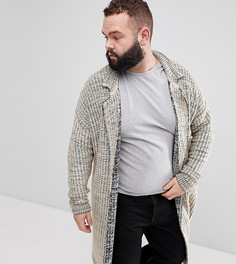 Куртка овсяного цвета из меланжевого трикотажа ASOS DESIGN Plus - Бежевый