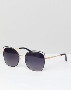 Золотистые квадратные солнцезащитные очки с серыми стеклами Christian La Croix - Золотой