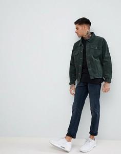 Вельветовая куртка цвета хаки boohooMAN - Зеленый