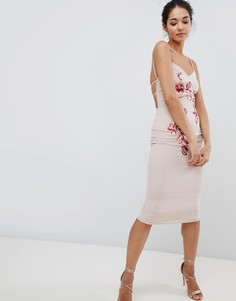 Платье на бретелях с вышивкой Hope & Ivy - Кремовый
