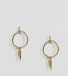 Позолоченные серьги-кольца мини Orelia - Золотой