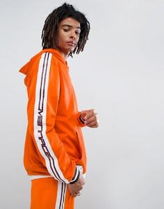 Оранжевый спортивный худи с отделкой лентой Mennace - Оранжевый