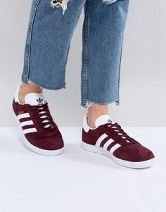 Женские бордовые кроссовки adidas Originals Gazelle - Красный