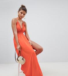 Пляжное платье макси с открытой спиной Boohoo - Красный