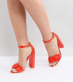 Красные босоножки на блочном каблуке Lost Ink - Красный