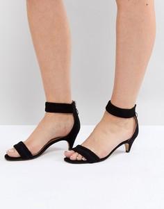 Черные босоножки на каблуке-рюмочке Lost Ink - Черный