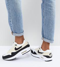 Черные кроссовки со вставками кремового цвета Nike Air Max 1 Premium - Черный