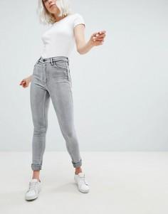 Супероблегающие джинсы с завышенной талией Levis Line 8 - Серый