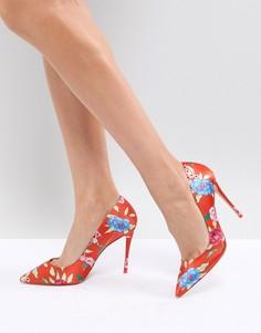 Красные туфли-лодочки на каблуке с цветочным принтом ALDO - Оранжевый