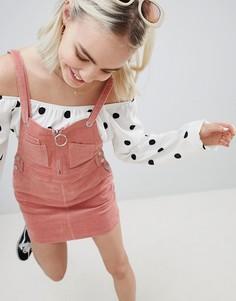 Вельветовое платье в стиле 90-х Emory Park - Розовый