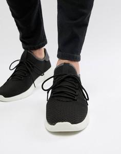 Черные кроссовки с трикотажной отделкой New Look - Черный