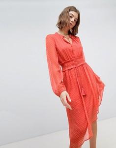 Платье с асимметричным подолом Vero Moda Prairie - Красный