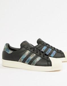 Кроссовки в стиле 80-х adidas Originals Superstar - Черный