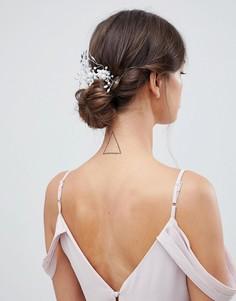 Гребень с искусственным жемчугом и кристаллами ASOS DESIGN Bridal - Серебряный