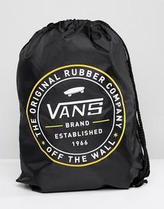 Черный рюкзак с затягивающимся шнурком Vans League V002W6BLK - Черный