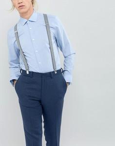 Подтяжки в серую полоску New Look - Серый