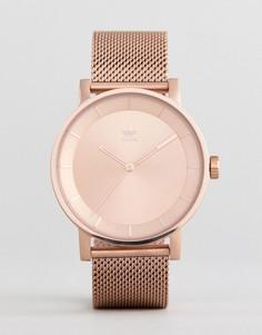 Часы цвета розового золота с сетчатым ремешком Adidas Z04 - Золотой