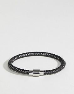 Черный кожаный браслет Ted Baker Roland - Черный