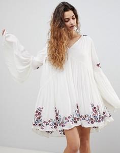 Платье Free People Te Amo - Кремовый