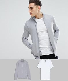Комплект из облегающей спортивной куртки и футболки ASOS - Мульти