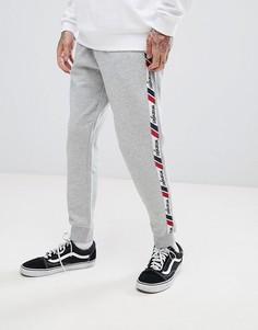 Джоггеры с полосками по бокам в стиле ретро Wrangler - Серый