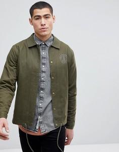 Спортивная куртка из хлопковой саржи Only & Sons - Зеленый