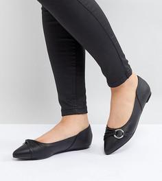 Черные туфли на плоской подошве Lost Ink - Черный