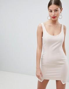 Платье мини со ступенчатым краем Missguided Peace And Love - Розовый