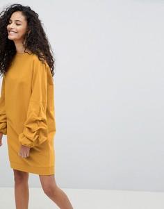 Трикотажное платье ASOS DESIGN - Желтый