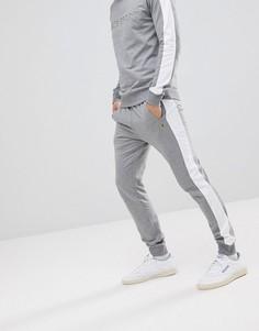 Серые меланжевые джоггеры с контрастной полосой Luke Sport 1 - Серый
