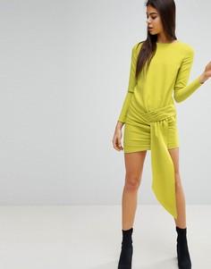 Платье мини с драпировкой спереди Missguided - Зеленый