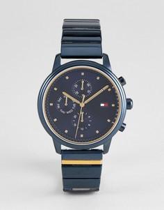 Синие часы с хронографом Tommy Hilfiger 1781893 - 38 мм - Синий