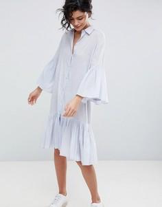 Хлопковое платье-рубашка 2NDDAY - Синий