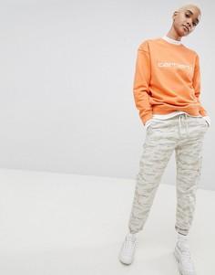 Свободные брюки с камуфляжным принтом Carhartt WIP - Мульти