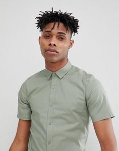 Облегающая рубашка с короткими рукавами Only & Sons - Зеленый