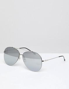 Серебристые солнцезащитные очки‑авиаторы Jeepers Peepers - Золотой