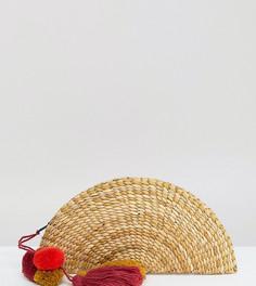 Соломенный клатч с кисточкой Glamorous - Бежевый