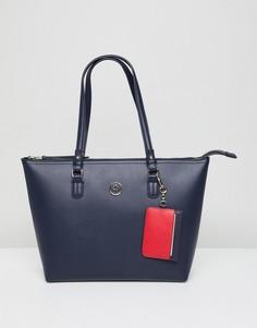 Средняя сумка-тоут на молнии Tommy Hilfiger - Темно-синий