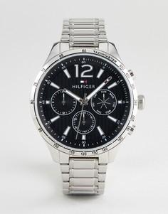 Серебристые наручные часы 46 мм с хронографом Tommy Hilfiger 1791469 - Серебряный