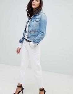 Укороченные джинсы бойфренда с классической талией G-Star 3301 - Белый