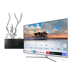 "LED телевизор SAMSUNG QE75Q7FAMUXRU ""R"", 75"", Ultra HD 4K (2160p), серебристый"