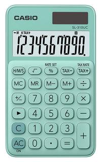 Калькулятор CASIO SL-310UC-GN-S-EC, 10-разрядный, зеленый