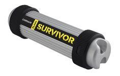 Флешка USB CORSAIR Survivor 128Гб, USB3.0, серебристый и черный [cmfsv3b-128gb]