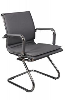 Кресло БЮРОКРАТ CH-993-Low-V, на полозьях, искусственная кожа, серый [ch-993-low-v/grey]