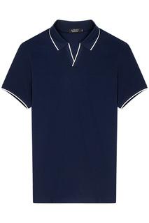 Темно-синяя футболка-поло Al Franco
